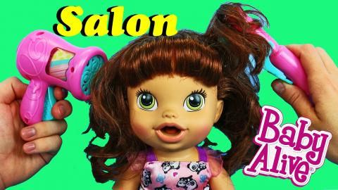 Baby Alive Salon Chic Vanity Play Set Hair Styling Doll