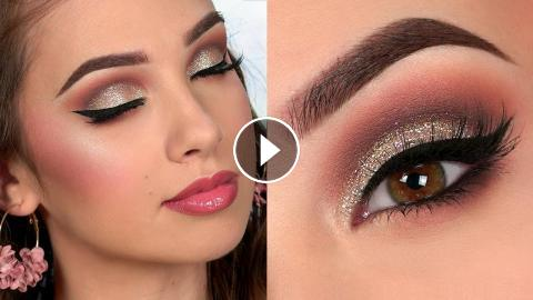 Wedding Guest Glam Makeup Tutorial Using Favourite Us Brands Ad