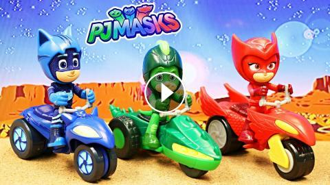 Pj Masks Chase Romeo With Super Moon Adventure Moon Rovers
