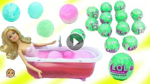 Barbie Takes Water Bath With Lol Surprise Charm Fizz Fizzy Bomb