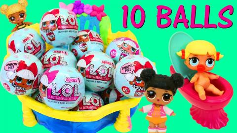10 LOL SURPRISE DOLLS SURPRISE BALLS