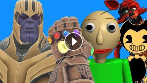 Can Thanos' INFINITY GAUNTLET Kill BALDI, BENDY & FOXY in
