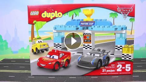 Lego Duplo Disney Cars 3 Piston Cup Race Lighting McQueen Races Batman Batmobile and Jackson Storm & Lego Duplo Disney Cars 3 Piston Cup Race Lighting McQueen Races ...