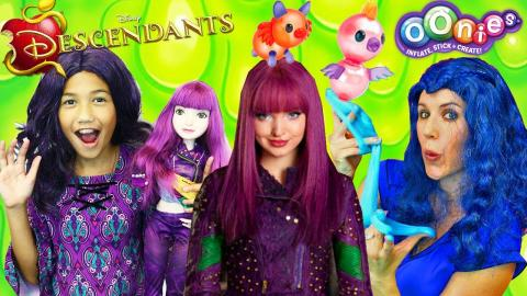 Disney Descendants 2 Dress Up & Evie Slime + Mal & Uma Oonies Pet Balloon Maker