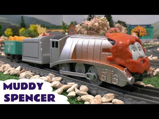 Thomas and Friends Toys Trackmaster Muddy Spencer Thomas y sus