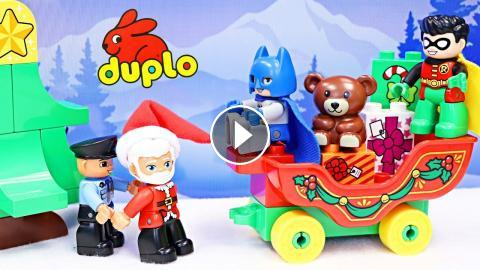 Duplo Lego Santa Rescued by Batman and Robin Joker Tricks Fake ...