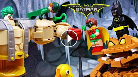 Lego Batman Movie Robin And Clayface Fight Joker In Teenage Mutant Ninja  Turtles Krang Robot Legos