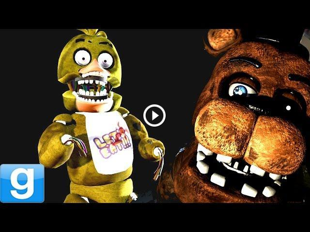 WITHERED ANIMATRONICS! - Gmod Five Nights At Freddy's Playermodel