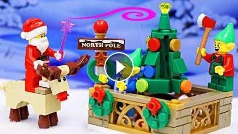 Lego Giant Christmas Tree Falls on Rudolph Red-Nosed Reindeer ...