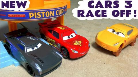 cars 3 mcqueen race off animation toy story for kids with cruz storm batman avengers