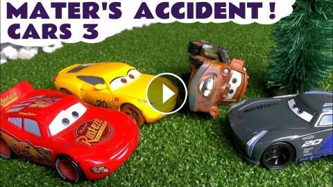 Cars 3 Mcqueen Cruz And Jackson Storm Mater S Accident Surprise