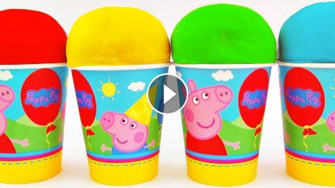 Peppa Pig Play-Doh Surprise Egg Party Cups My Little Pony Spongebob Hello Kitty LPS Toys FluffyJet