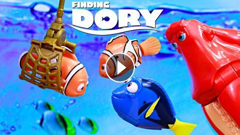 Finding Dory Marlin Captured And Kidnapped Hank Steal Truck Save Reunites Nemo