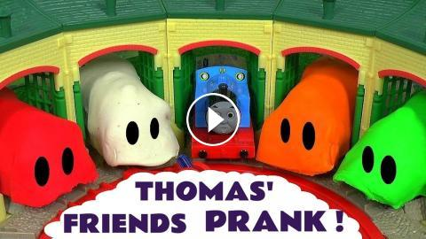 Thomas And Friends Toy Trains Play Doh Stop Motion Prank Guessing Game Fun Kids Video ToyTrains4u