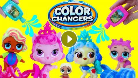 Color Change Toys Disney Princess Palace Pets Lol Surprise Dolls