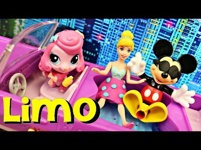 Littlest Pet Shop PET LIMO ✪ Play Doh Makeover With Magic