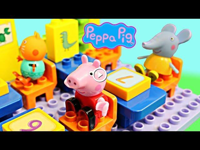 Peppa Pig Toys School Construction Set With Candy Cat Emily Elephant