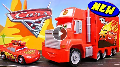 Disney Cars 3 Mack Mobile Tool Center Lightning Mcqueen And Mater Find Giant Car Race Away